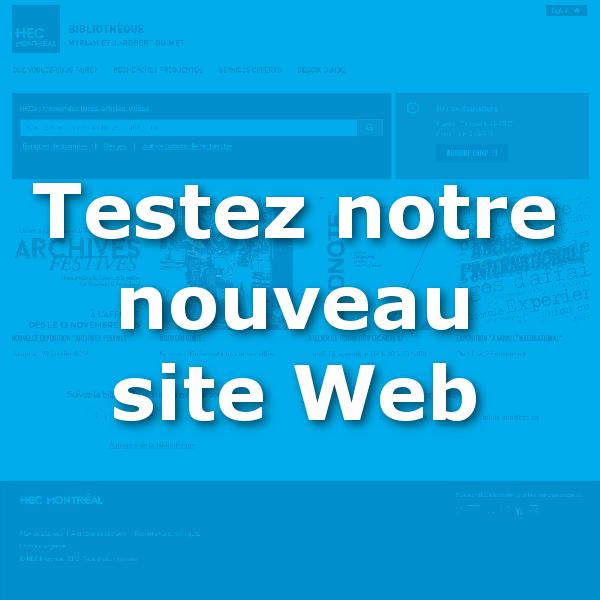 Testez le nouveau site web