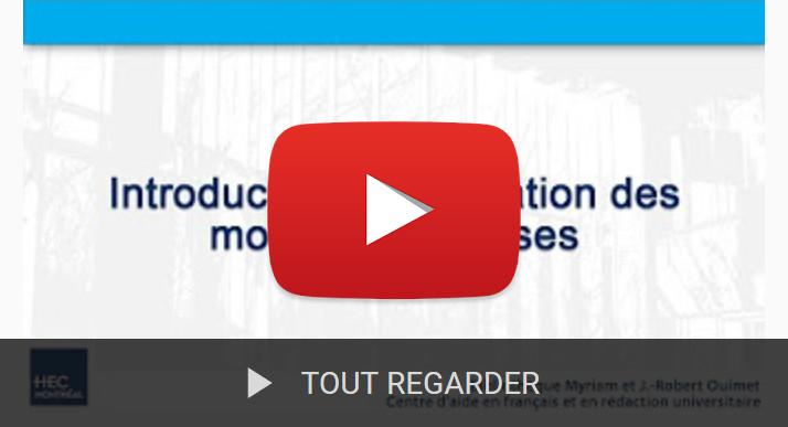 Capsules vidéos sur les thèses et mémoires
