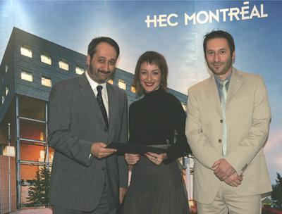 Photo: remise du prix Alma-Lepage 2006