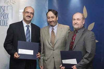 Photo: remise du prix Alma-Lepage 2007
