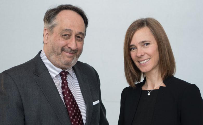 Michel Patry, PDG de la Fondation HEC Montréal, Mélanie Gagnon, directrice