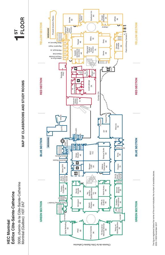 HEC Montréal | Côte-Sainte-Catherine Building | 1st floor plan