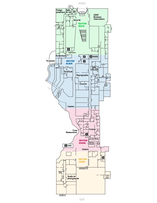 Ground floor plan of the Côte-Sainte-Catherine Building