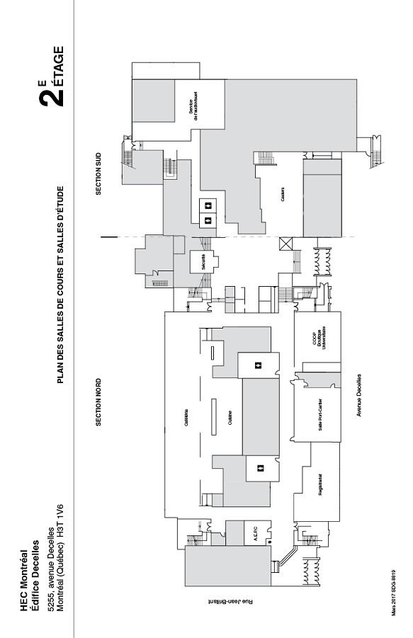 Decelles building - 2nd floor plan | Decelles Building | HEC Montréal