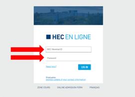 HEC en ligne - Application Step 1 - EN