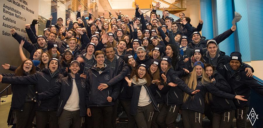 L'équipe de HEC Montréal composée de 80 étudiants du B.A.A. a remporté la première place des Jeux du commerce 2017