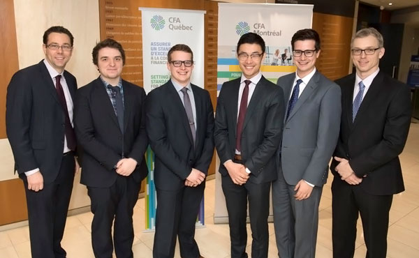 L'équipe de HEC Montréal est composée de quatre étudiants du B.A.A. : Renaud Paquin, Jérémy Major, Chang Qi Chester Liu et Jean-Benoît Courchesne. Elle est entrainée par le maître d'enseignement Jean-Philippe Tarte (finance) et Éric Landry, agent d'investissement chez Division d'investissement CN.