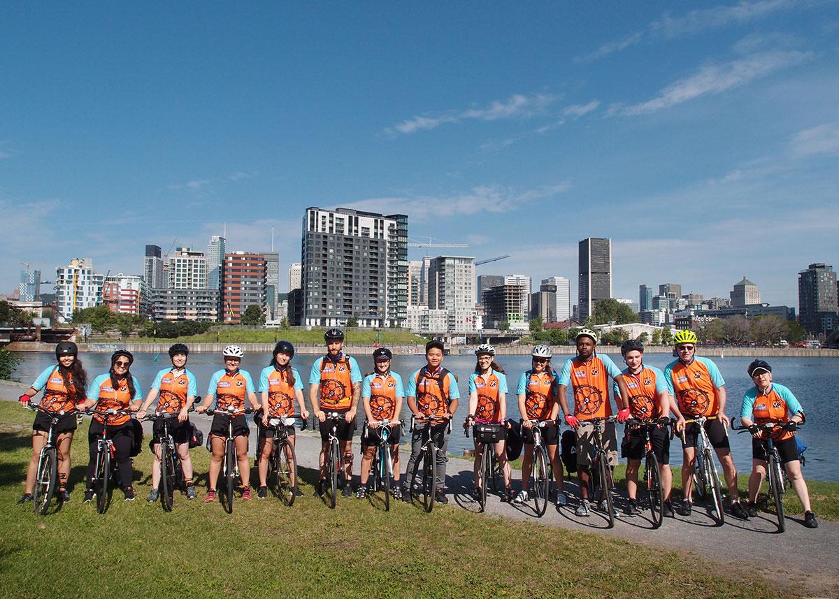 Campus international à vélo