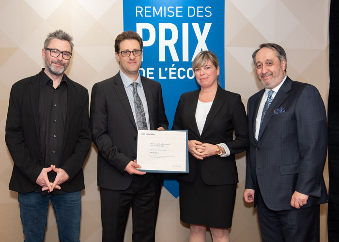 Jean-Sébastien Marcoux, Yany Grégoire, Marie Lefebvre et Michel Patry.