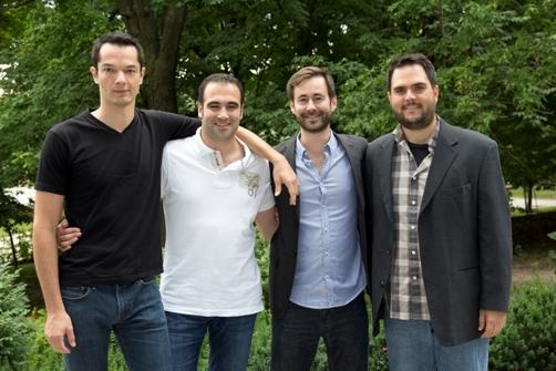 Simon Turcotte, Lauris Bonnet, Jean-Michel Beaudoin, and Daniel Tardif