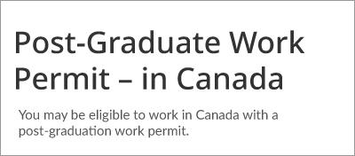 Permis de travail postdiplôme - au Canada