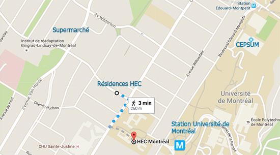 Carte de la résidence