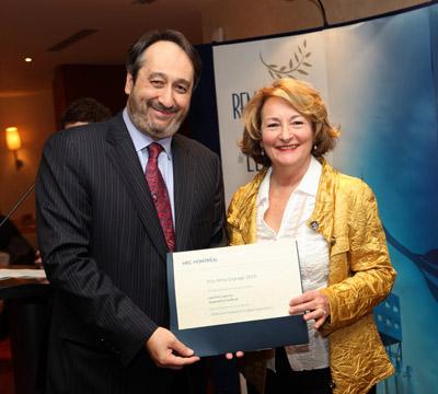 Jacqueline Cardinal, colauréate (avec Laurent Lapierre) du prix Alma-Lepage