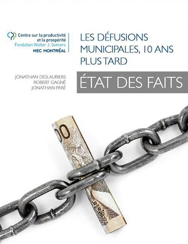 l'étude Les défusions municipales, 10 ans plus tard – État des faits du Centre sur la productivité et la prospérité (CPP) de HEC Montréal
