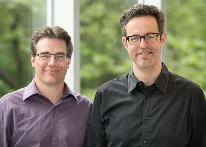 Les codirecteurs du Carrefour de philanthropie des données, (de gauche à droite)Marc Fredette et Renaud Legoux.