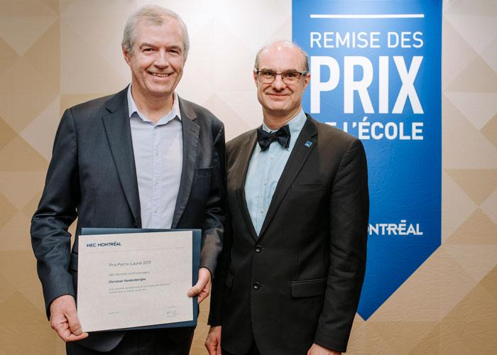 Le professeur Christian Vandenberghe et le directeur de l'École, Federico Pasin
